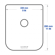 Breath Shield for AO 12415 NCT, Large, Thick Acrylic
